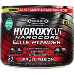 MUSCLETECH Hydroxycut Hardcore Elite Powder Fruit Fusion 83 grams