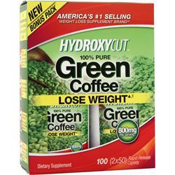 MUSCLETECH Hydroxycut - 100% Pure Green Coffee 100 cplts