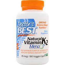 DOCTOR'S BEST Natural Vitamin K2 - MenaQ7 180 vcaps