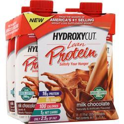 Muscletech Hydroxycut Lean Protein RTD Milk Chocolate 4 bttls