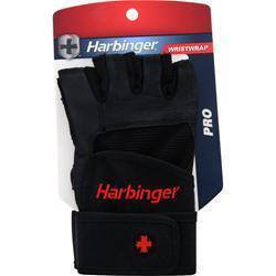 HARBINGER Pro Series Wristwrap Glove Black (L) 2 glove