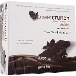 POWER CRUNCH Choklat Crunch Bar Dark Chocolate 12 bars