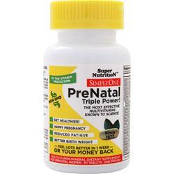 Super Nutrition Simply One Prenatal Triple Power 30 tabs