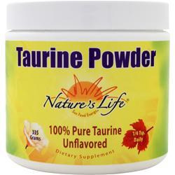 NATURE'S LIFE Taurine Powder Unflavored 335 grams