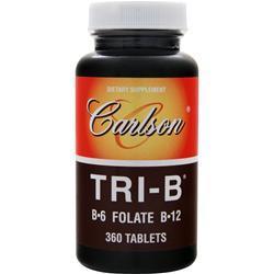 CARLSON Tri-B B-6 Folate B-12 360 tabs