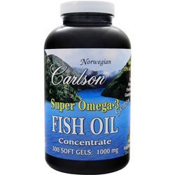 CARLSON Super Omega-3 Gems - Fish Oil Concentrate (1000mg) 300 sgels