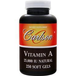 Carlson Vitamin A (25,000IU) 250 sgels
