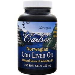 CARLSON Norwegian Cod Liver Oil (390mg) 250 sgels
