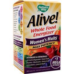 Nature's Way Alive Multivitamin - Women's Multi Max Potency 90 tabs