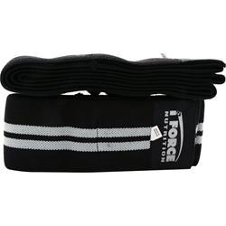 IFORCE Knee Wraps Black w/ Silver Stripe 2 wraps