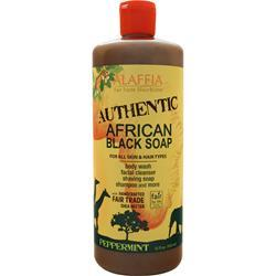 Alaffia African Black Soap Peppermint 32 fl.oz