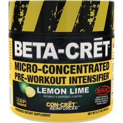 CON-CRET Beta-Cret Micro-Concentrated Pre-Workout Intensifier Lemon Lime 5.77 oz