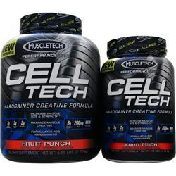 MUSCLETECH Cell Tech - Buy 6lb. get 3lb. Free Fruit Punch 9 lbs