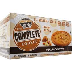 LENNY AND LARRY'S The Complete Cookie - All Natural Peanut Butter 12 pck
