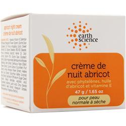 EARTH SCIENCE Apricot Intensive Night Creme Normal to Dry Skin 1.65 oz