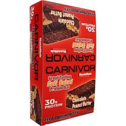 MuscleMeds Carnivor Bar Chocolate Peanut Butter 12 bars