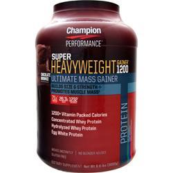 CHAMPION NUTRITION Super Heavyweight Gainer 1200 Chocolate Brownie 6.6 lbs