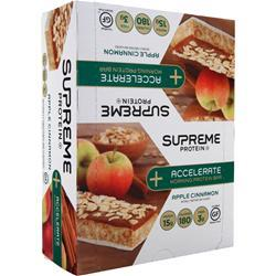 Supreme Protein Accelerate Morning Protein Bar Apple Cinnamon 12 bars