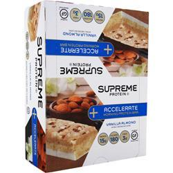 Supreme Protein Accelerate Morning Protein Bar Vanilla Almond 12 bars