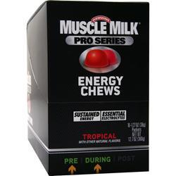 CYTOSPORT Muscle Milk Pro Series - Energy Chews Tropical 10 pckts