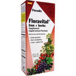 Flora Floradix Floravital Iron + Herbs Liquid Extract Formula 23 fl.oz