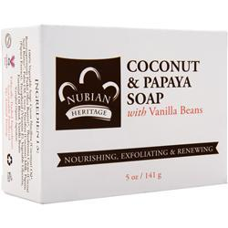 Nubian Heritage Bar Soap Coconut & Papaya 5 oz