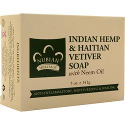 Nubian Heritage Bar Soap Indian Hemp & Vetiver 5 oz