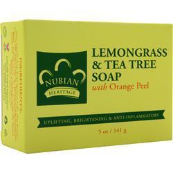 NUBIAN HERITAGE Bar Soap Lemongrass & Tea Tree 5 oz