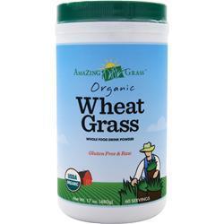 AMAZING GRASS Organic Wheat Grass - Whole Food Drink Powder Original 17 oz
