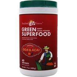 AMAZING GRASS Green Superfood Drink Powder Berry 17 oz