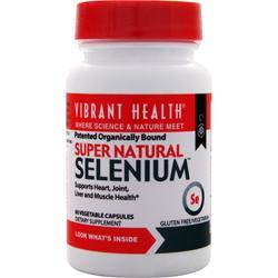 VIBRANT HEALTH Super Natural Selenium 60 vcaps