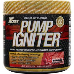 TOP SECRET NUTRITION Pump Igniter - Pre Workout Red Raspberry Exp 8/15 109 grams