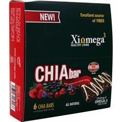 Xiomega3 Chia Bar Mixed Berries 6 bars