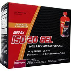Met-Rx Iso 20 Gel Fruit Punch 6 pckts