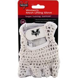VALEO Women's Mesh Lifting Gloves White - L 1 pck