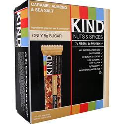 Kind Nuts and Spices Bar Caramel Almond & Sea Salt 12 bars