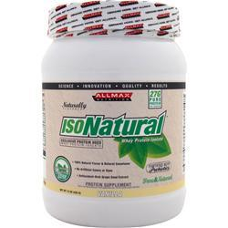 ALLMAX NUTRITION IsoNatural - Whey Protein Isolate Vanilla .94 lbs