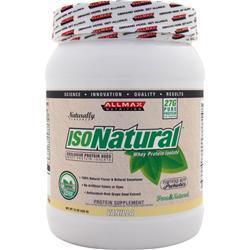 Allmax Nutrition IsoNatural - Whey Protein Isolate Vanilla .94 lbs
