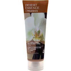 Desert Essence Organics Hand & Body Lotion Spicy Vanilla Chai 8 fl.oz