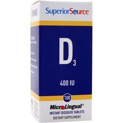 SUPERIOR SOURCE D3 (400IU) 60 tabs