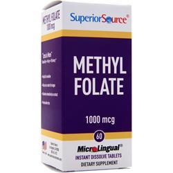 Superior Source Methyl Folate (1000mcg) 60 tabs