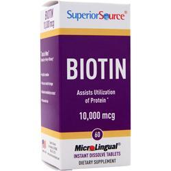Superior Source Biotin (10,000mcg) 60 tabs