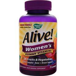 NATURE'S WAY Alive Women's Energy Multivitamin-Multimineral 75 gummy