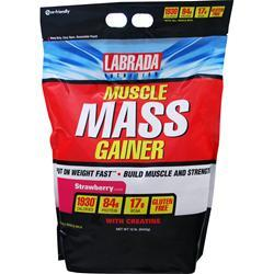 Labrada Muscle Mass Gainer Strawberry 12 lbs