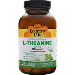 COUNTRY LIFE L-Theanine Smooth Melts (100mg) Best by 9/15 60 count