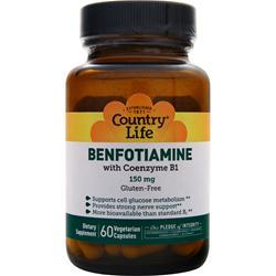 COUNTRY LIFE Benfotiamine with Coenzyme B1 60 vcaps