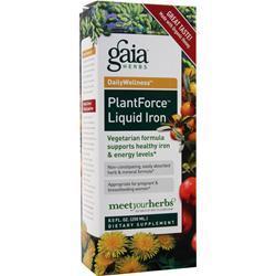 Gaia Herbs DailyWellness - Plant Force Liquid Iron 8.5 fl.oz