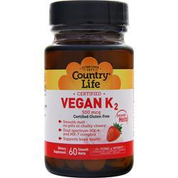 Country Life Vegan K2 (500mcg) 60 count