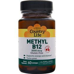 COUNTRY LIFE Methyl B12 (5000mcg) Cherry 60 lzngs