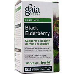 GAIA HERBS Single Herbs - Black Elderberry 60 vcaps